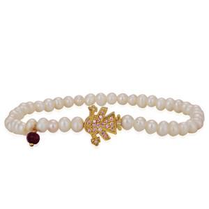 Gold Girl Pendant Bracelet