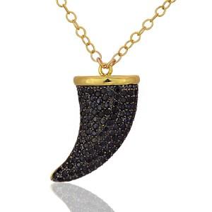 Gold w/Black CZs