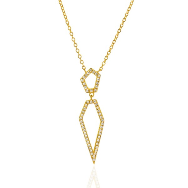 Gold Spear Necklace