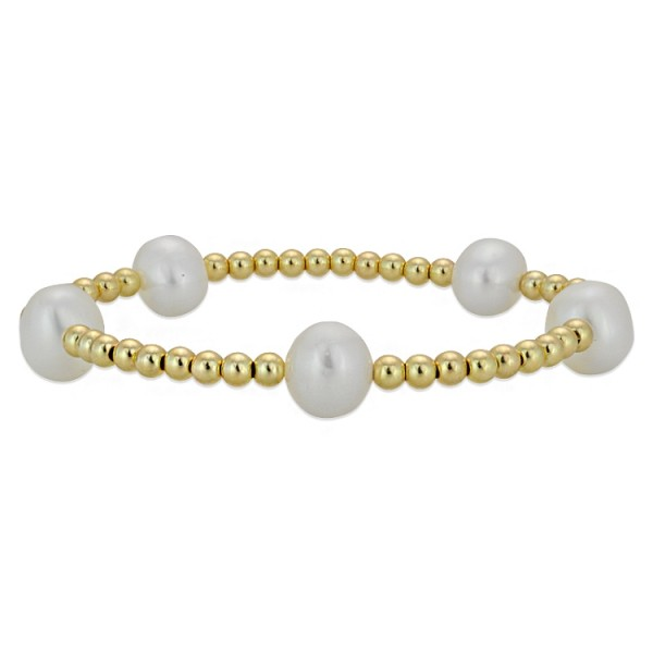 Gold/freshwater pearls