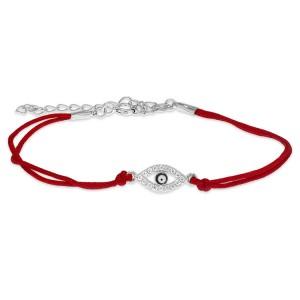Silver/Red String