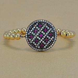 Oval Circle Pave